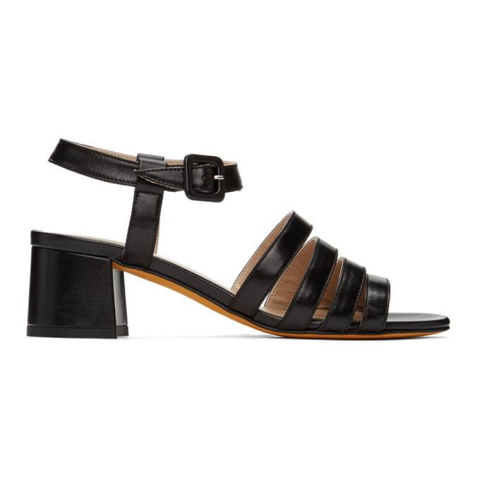 maryam Nassir Zadeh black patent leather 'Palm high' sandals.jpg